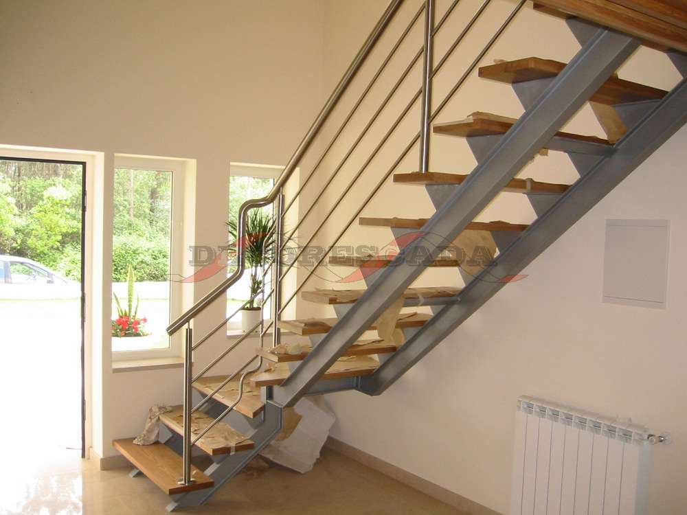 Loft Stairs With Handrail